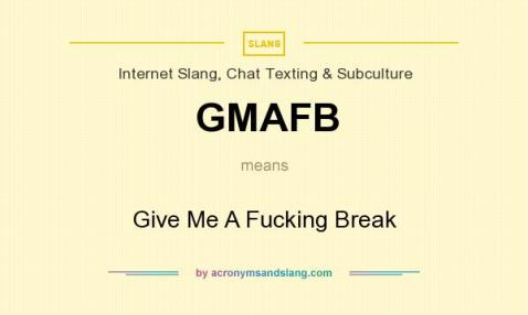 GMAFB meaning - what does GMAFB stand for?